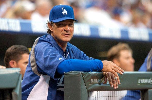 Manager Don Mattingly watches the Dodgers play the Rockies during a series in Denver last week.