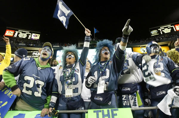 Seattle Seahawks fans make it rough on the opposition.
