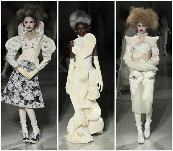 Looks from the Thom Browne spring 2014 women's runway show held at Center 548 during New York Fashion Week.