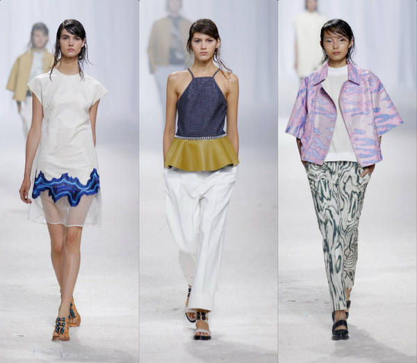 Looks from the 3.1 Phillip Lim runway collection shown during New York Fashion Week.