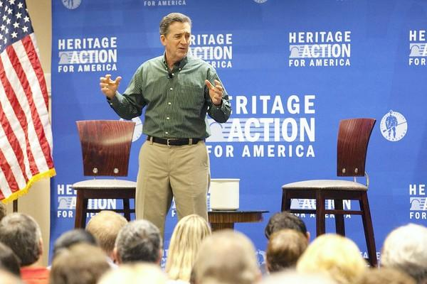 """If there has ever been a political issue that's worth standing up and fighting and taking a risk for, this is the time to do it,"" former Sen. Jim DeMint said at a Heritage Action event."