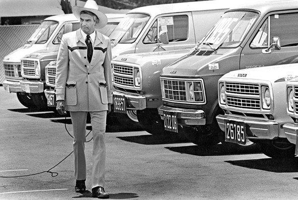 You knew watching his ads that no matter how many hoops he had to jump through, he wanted your business, one marketing professor said of car salesman Cal Worthington, seen above in 1979.