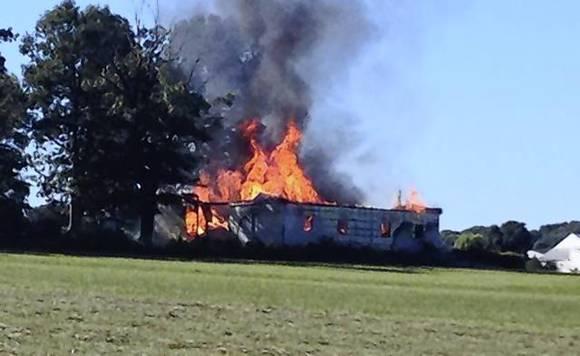 harford companies assist with fighting rising sun barn