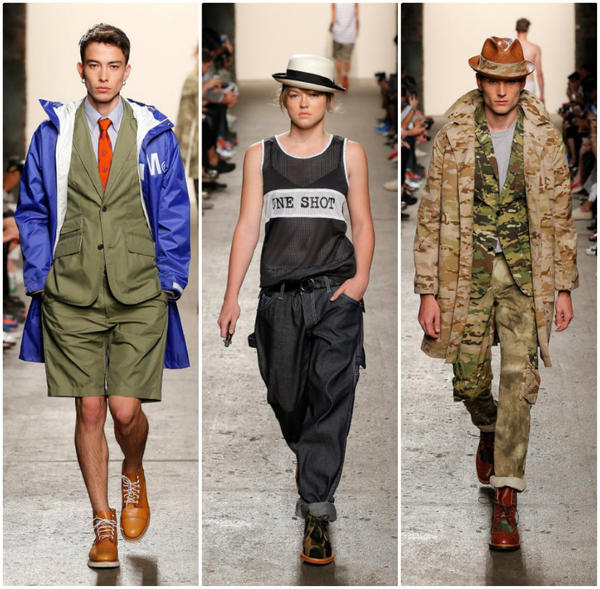 Looks from the spring 2014 Mark McNairy New Amsterdam men's and women's runway show held during New York Fashion Week.