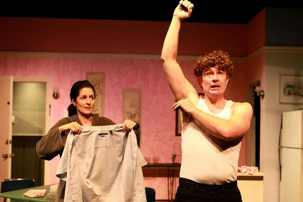 "Cameron Meyer and James Marsters in ""The Bells of West 87th"" at Greenway Court Theatre."