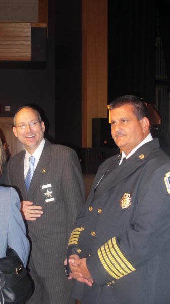 BSO Fire Chief Anthony Stravino, right. (BSO General Counsel Ron Gunzburger, left)