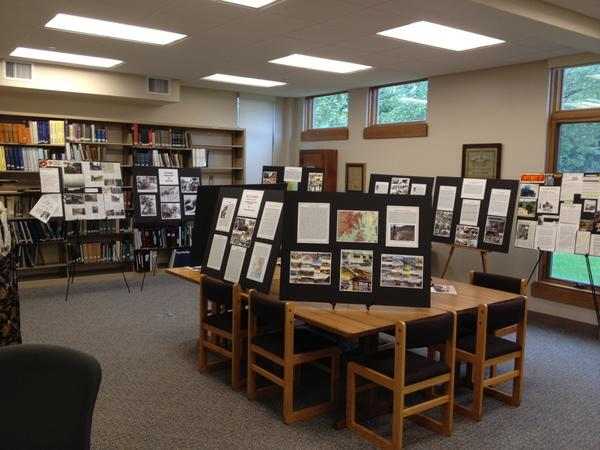 The local history room in the Avon Free Public Library has been turned over for an exhibit on the war in Vietnam. It is part of a series of events and programs at the library this fall on the war.