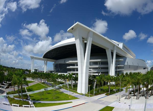MIAMI, FL - AUGUST 24: A general view of Marlins Park during the game between the Miami Marlins and Colorado Rockies at Marlins Park on August 24, 2013 in Miami, Florida. (Photo by Jason Arnold/Getty Images) ORG XMIT: 163495177