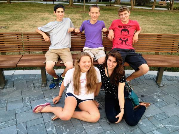 Members of Oak Park and River Forest's debate club recently discussed their efforts to keep the club alive. From left: Marty Pimentel, Emma Dempsey, Louis Kissinger, Mara Kupelian and Jack Grondwalski.