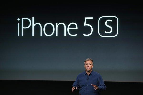 Apple Senior Vice President of Worldwide Marketing at Phil Schiller speaks about the new iPhone 5S during an Apple product announcement at the Apple campus.