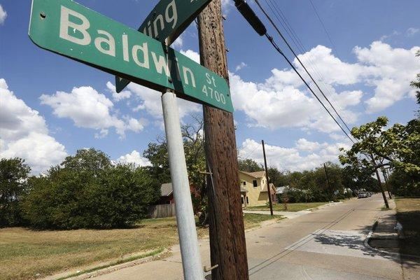 This photo shows Baldwin Street, where rape suspect Van Dralan Dixson has a home.