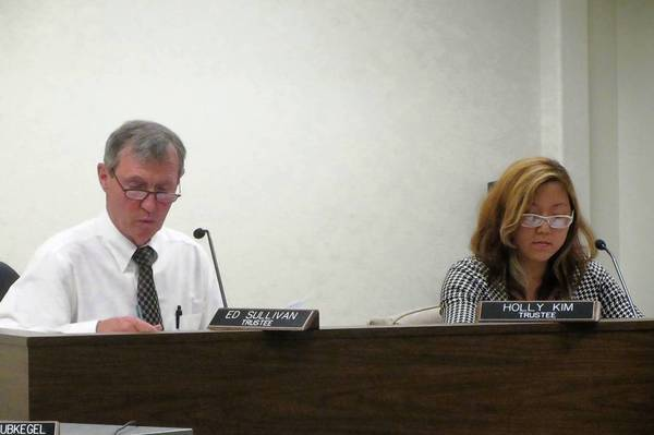 Mundelein Trustee Ed Sullivan (left) voted against a letter of support from the village board regarding the proposed Route 53 expansion.