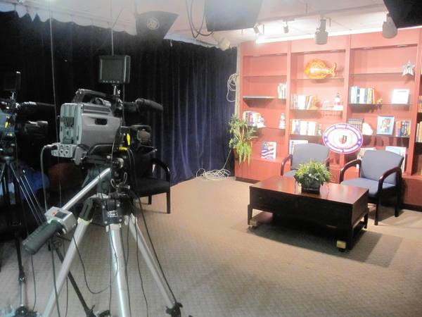 "The production set for ""Discover Tinley,"" a program airing on Tinley TV via Comcast and U-Verse."