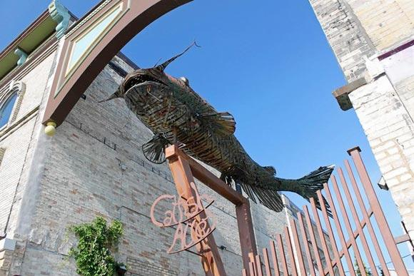 Catfish sculpture