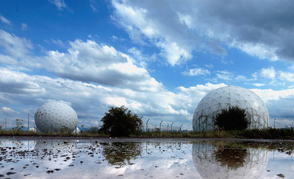 Radomes that contain radar antennas stand at an operating facility of the Bundesnachrichtendienst, or BND, the main German foreign intelligence gathering agency. The German government recently confirmed that the BND shares large amounts of its data with the NSA.