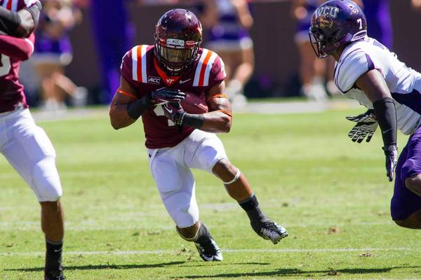 "Virginia Tech running back J.C. Coleman of Chesapeake said he thinks his unit ""can be a pretty balanced offense."""