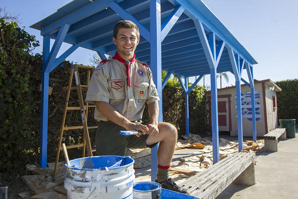 Ken Gironda, a Huntington Beach resident and Life Scout, is building a patio awning at the Brothers of St. Patrick Monastary for his Eagle Scout project.