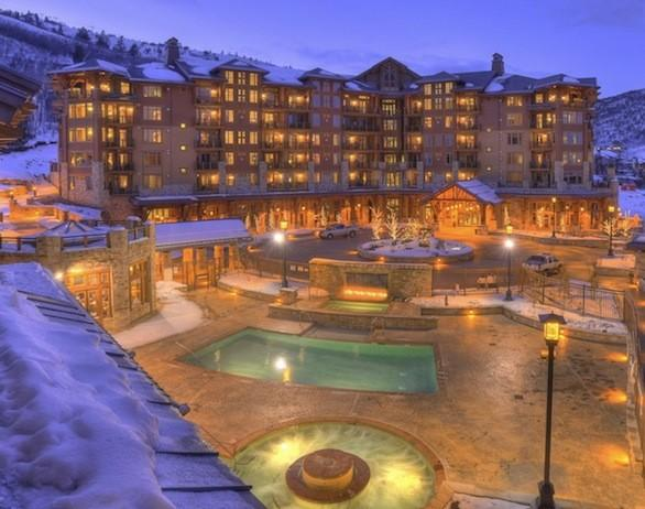 The Hyatt Escala Lodge at Park City, Utah, features ski in-ski out access to the Canyons Resort.