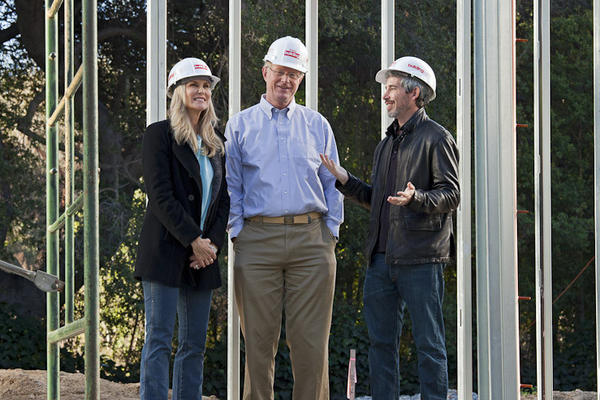 "Ed Begley Jr. (noted actor and environmentalist) and his wife, Rachelle Carson-Begley, and architect Scott Harris oversee the steel framing for their ""green"" house that they are attempting to build under LEED Platinum Certified standards. It is also being filmed for their web series ""On Begley Street"", a Web series that explores the building of North America's greenest, most sustainable home."