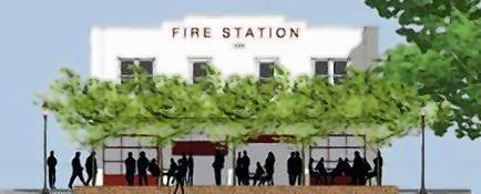 Rendering depicts conversion of Winter Garden fire station into art gallery.