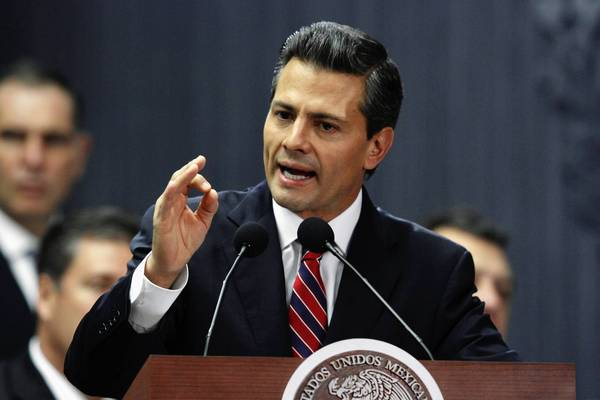 Mexican President Enrique Pena Nieto unveils his fiscal reform plan on Sunday. He left out, apparently at the eleventh hour, a value-added sales tax on food and medicine.