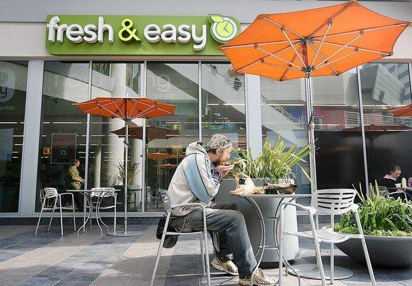 Yucaipa Cos. will acquire more than 150 of Fresh & Easy's 200 mostly Southern California stores. Above, a store in Hollywood.