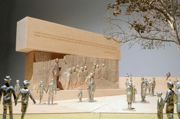 A rendering of architect Frank Gehry's design for the planned Dwight D. Eisenhower Memorial in Washington.