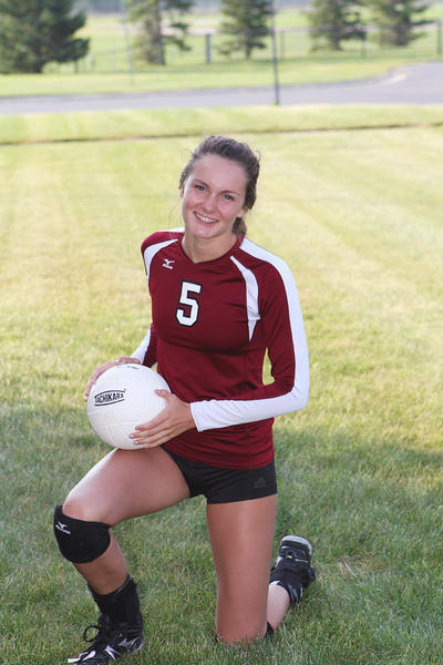 Charlevoix junior Madeline Boss had 18 kills and eight digs Tuesday as the Rayders defeated Grayling, 25-22, 25-18, 22-25, 25-21, Tuesday in their Lake Michigan Conference opener.