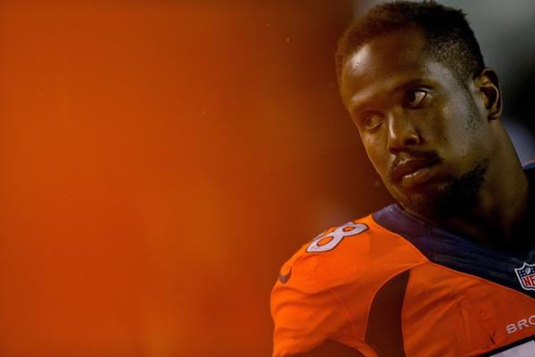 Denver Broncos linebacker Von Miller looks on during a game against the St. Louis Rams last month.