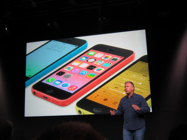 Apple's Phil Schiller discusses the new iPhone 5c.