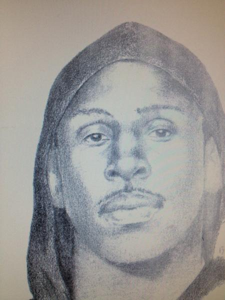 Oakland police released this sketch of the suspect in the July 17 slaying of 8-year-old Alaysha Carradine.