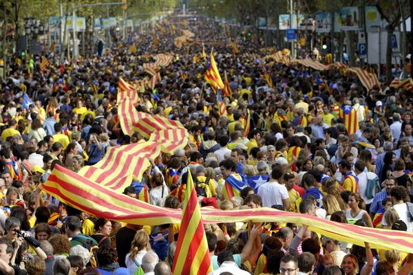 Catalans demonstrate for independence from Spain