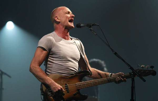 Sting performs at the Wiltern Theater in Los Angeles in 2011.