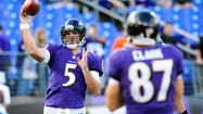 Joe Flacco is getting to know a new group of receivers