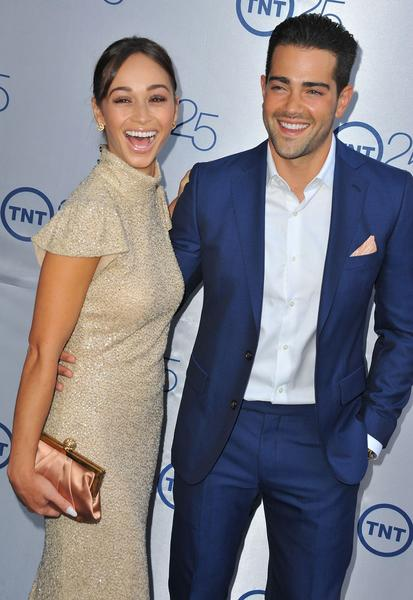 Cara Santana and Jesse Metcalfe at TNT's 25th anniversary party in Beverly Hills in July.