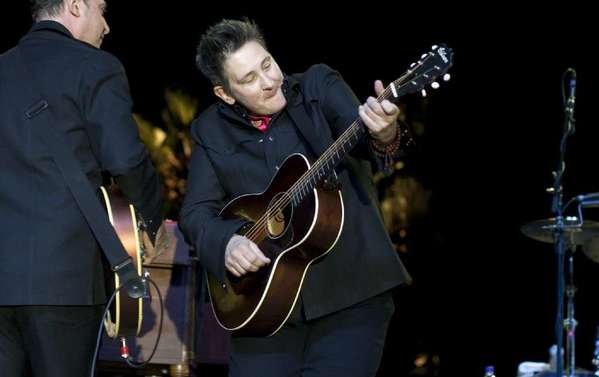 Singer k.d. lang performing at the Stagecoach Festival in 2011.