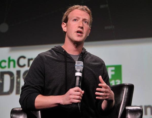 Facebook CEO Mark Zuckerberg spoke at the TechCrunch Disrupt conference in San Francisco on Wednesday.