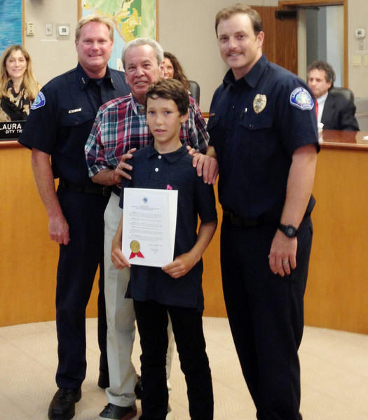 Junior Lifeguard Jameson Roller was commended for his rescue of a drowning swimmer on Aug. 2 at a summer camp in Maine.