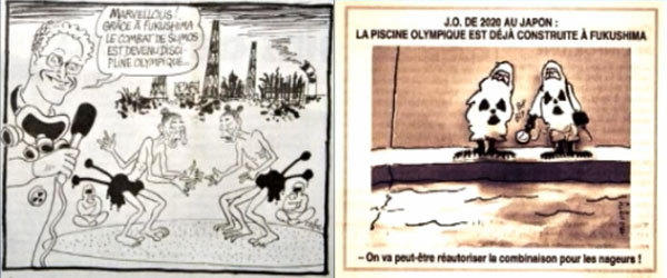 Japan has issued a formal complaint against the French satirical newspaper Le Canard enchaine, which published cartoons that reference both the 2020 Tokyo Games and radioactive leaks at the tsunami-damaged Fukushima nuclear plant.