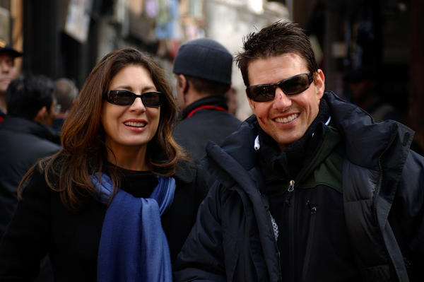 "Paula Wagner with Tom Cruise on the set of ""Mission: Impossible III."" Wagner will produce the Governors Awards for the Academy of Motion Picture Arts and Sciences."