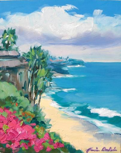 """Spring Day In Laguna,"" by Maria Bertran, is on display at the Pacific Edge Gallery."