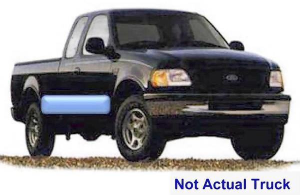West Chicago police are looking for a late '90s to early 2000 black Ford 150 pickup truck with an extended cab with a distinct blue stripe along the lower trim.