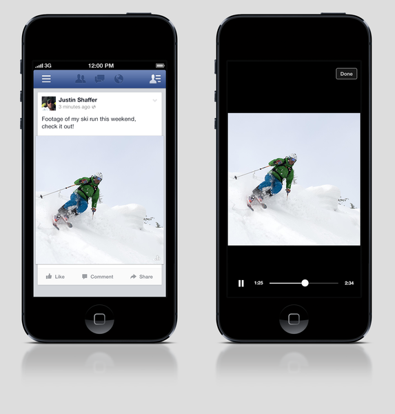 Facebook has begun testing a new video tool with a limited number of U.S. users. The video clips will automatically play without sound in the News Feed. A user must tap or click on the video to make it play with sound in full screen, or otherwise can just scroll past the video.