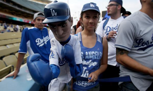 Dodgers' merchandise sales -- for gear sold via mlb.com -- is up 50% from last season.
