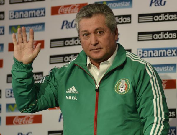 New Mexican national football team coach Victor Manuel Vucetich waves at the end of a press conference on September 12, 2013. Mexico lost its last qualifier against the USA by 2-0. AFP PHOTO/OMAR TORRESOMAR TORRES/AFP/Getty Images ORG XMIT: