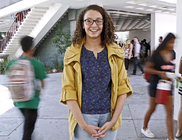La Cañada Unified School District Board student representative Dahlia Kaki, 17 of La Cañada Flintridge, on the La Cañada High School campus on Tuesday, Sept. 10, 2013.