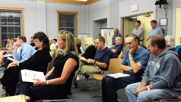 "Park Ridge residents joined aldermen on Monday, Sept. 9, to learn about their city's sewer system in a ""Sewer 101"" discussion during a meeting of the city council's committee-of-the-whole. Later this year, aldermen will consider whether to fund a new round of sewer and flood control projects."