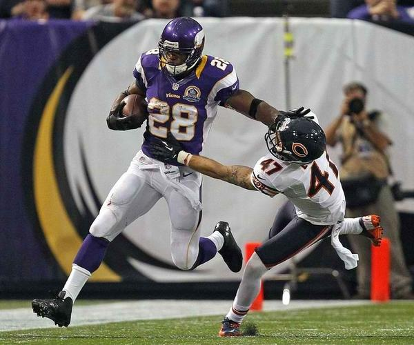 Sometimes Adrian Peterson has the Bears' number. Other times, the Monsters of the Midway absolutely own him.