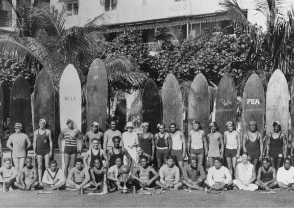 The Waikiki Beachboys at The Royal Hawaiian in 1930.