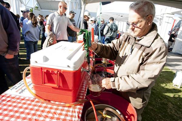 Fifty to 60 craft beers from more than 20 breweries will be available for sampling at the Virginia Beach Craft Beer Festival Saturday-Sunday, Oct. 19-20, at the Virginia Beach oceanfront. Photo courtesy of Beach Events.